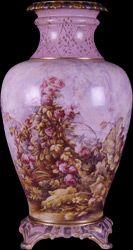 Yıldız porselen vazo. H.1312 sene 3 imalat damgalı (1897).