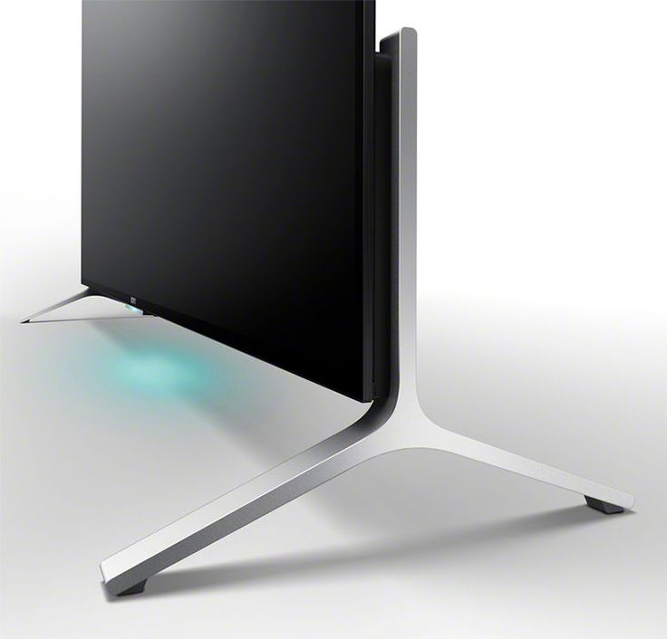 Closeup image of 4K TV BRAVIA stand