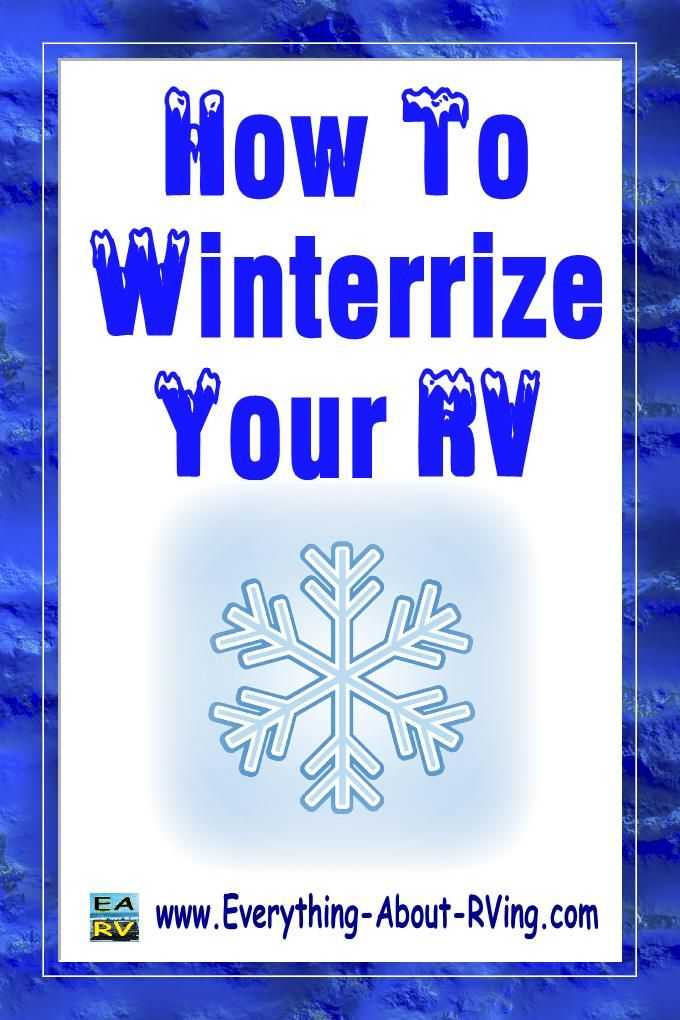 How to winterize your RV by Jeremy Johnson will walk you through the steps to properly winterize your RV to prevent expensive damage. Read More: http://www.everything-about-rving.com/winterizing.html