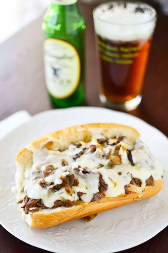 Philly Cheese Steak with homemade cheese sauce.  I want it!