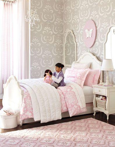 pink and gray: Kids Room, Big Girl, Girls Room, Girls Bedroom, Pottery Barn Kids, Room Ideas, Girl Rooms