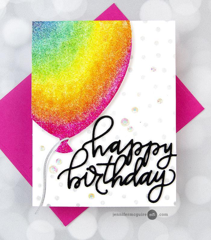 Front Flap Card Designs Video Sale Jennifer Mcguire Ink Simple Card Designs Simple Cards Watercolor Birthday Cards
