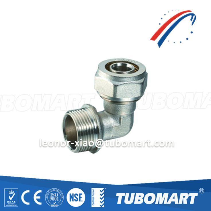 2017 Hot sale brass fitting TM-100 male 90 degree elbow screw for pex-al-pex pipe compression