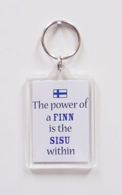 Power of a FINN is the SISU Within Key Chain - I really wish I could buy these in Finland too ;-)