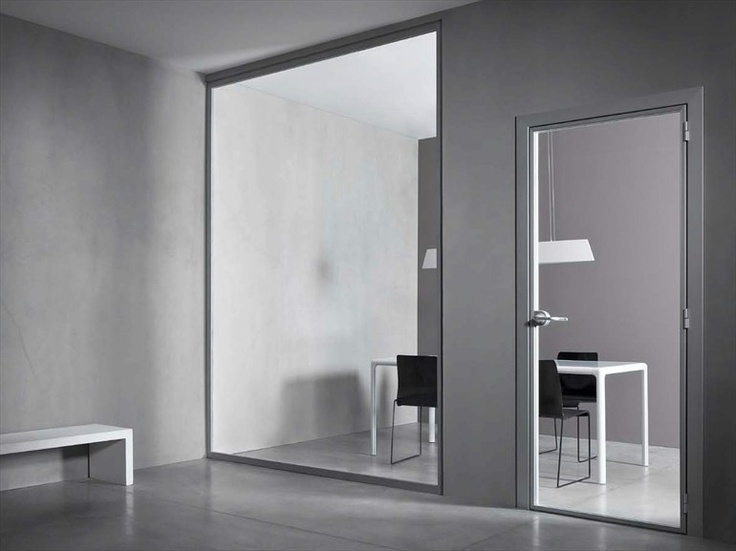 Glass #door VETRA by CONNECTICUT #interiors #glass #grey