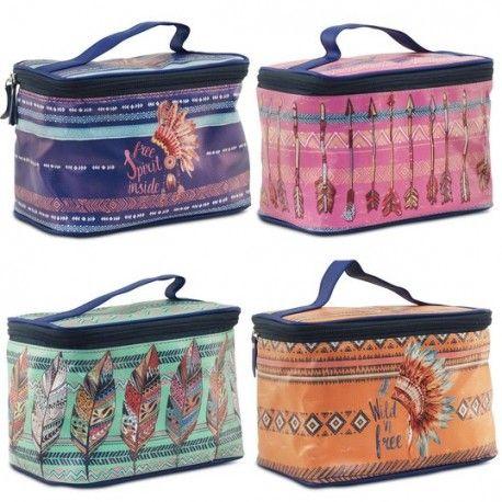 Neceseres muy originales y con diseño para llevar a la playa, también hay Las llamadas bolsas para cosméticos personal que necesitamos para maquillaje.