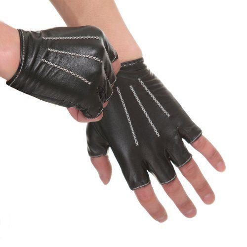 10 best Men's Fingerless Leather gloves images on ...