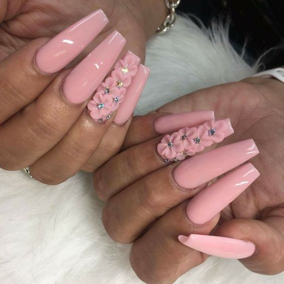 The Newest Acrylic Nail Designs are so perfect for fall and winter! Hope  they can inspire you and read the article to get the gallery. #AcrylicNails  ... - 80 Newest Acrylic Coffin Nail Designs To Inspire You 2018-2019
