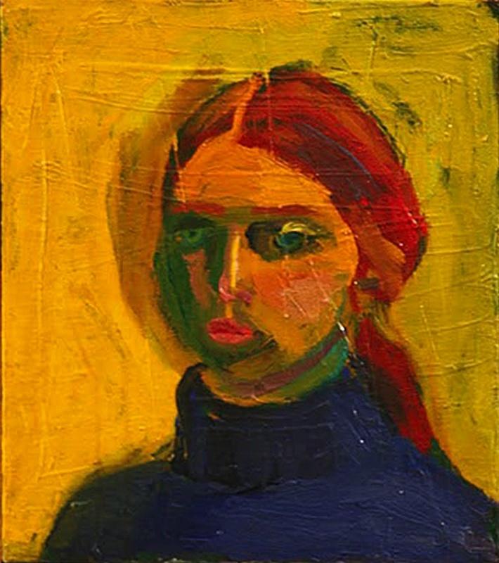 """Joan Brown (1938-1990) was een Amerikaans figuratief schilder die leefde en werkte in Noord- Californië . Ze was een lid van de """"tweede generatie"""" van de Bay Area Figuratief Movement. Ze bereikte bekendheid met een stijl van de figuratieve schilderkunst, gecombineerd met heldere kleuren, cartooneske tekeningen en persoonlijke symboliek."""