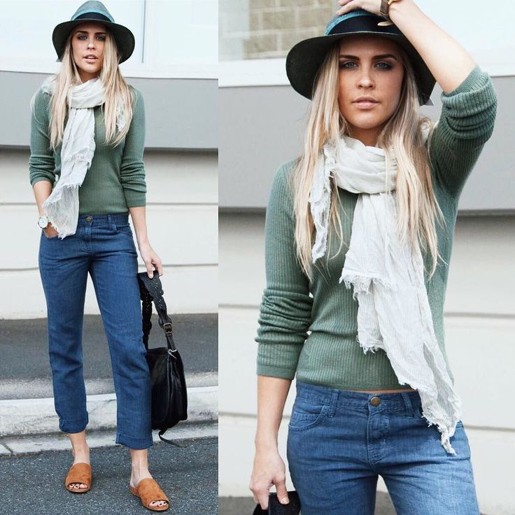 Lightweight Autumn dressing done right with our #new @currentelliott jeans and @vince knit  Shop in store today.