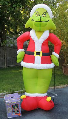 grinch 8 foot christmas airblown inflatable gemmy