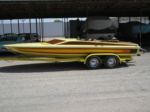 21 feet  1977 Eliminator Boats DAY CRUISER Jet Boat , YELLOW, BROWN, ORANGE for sale in LAS CRUCES , NM