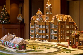 Over at The Hotel at Auburn University,  they have decked the halls with a gingerbread campus on the Plains.