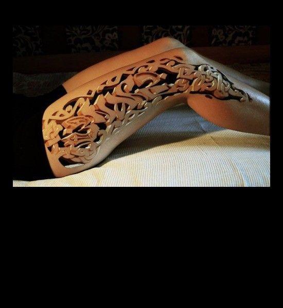 Insanely realistic leg lattice tattoo. | Tattoo Love ...
