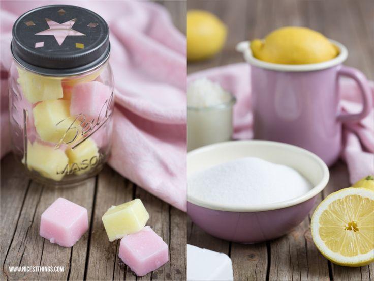 DIY Zucker-Zitronen-Peelingwürfel - 12 GOLD Gastgeschenketipps
