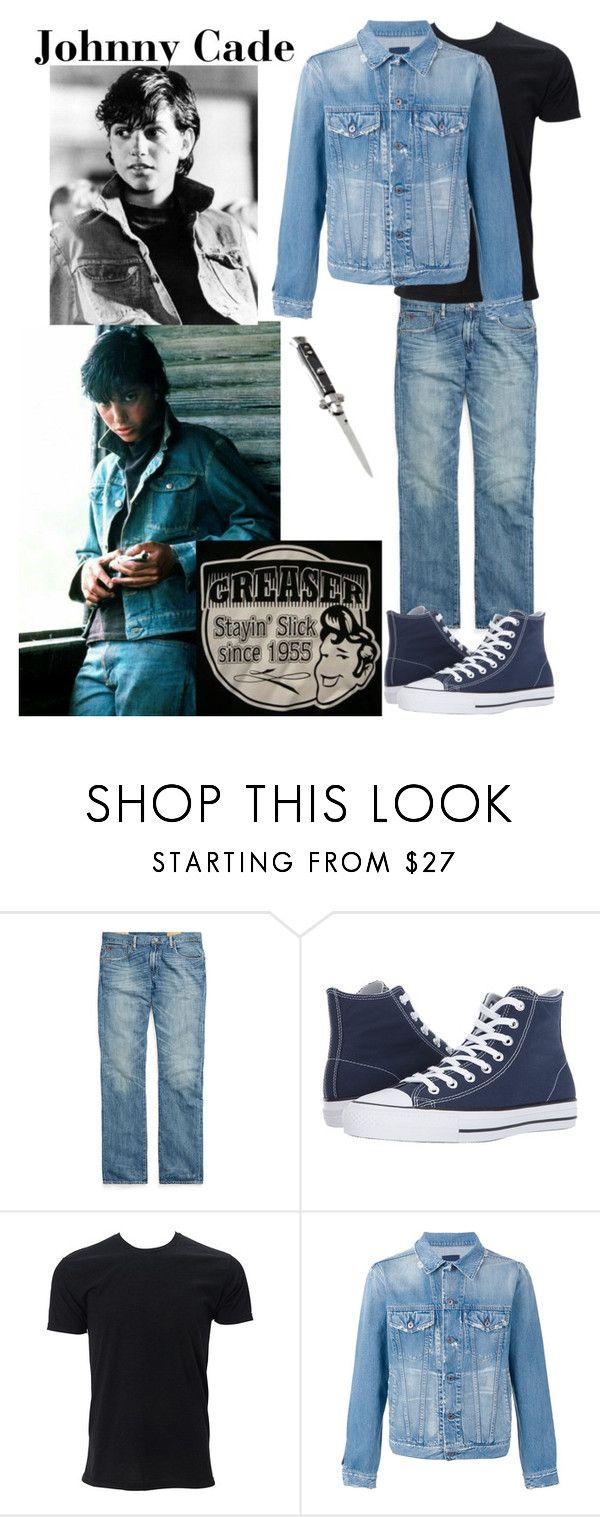 """""""Johnny Cade"""" by cassie-goats ❤ liked on Polyvore featuring Ralph Lauren, Converse, Simplex Apparel, Simon Miller, men's fashion and menswear"""