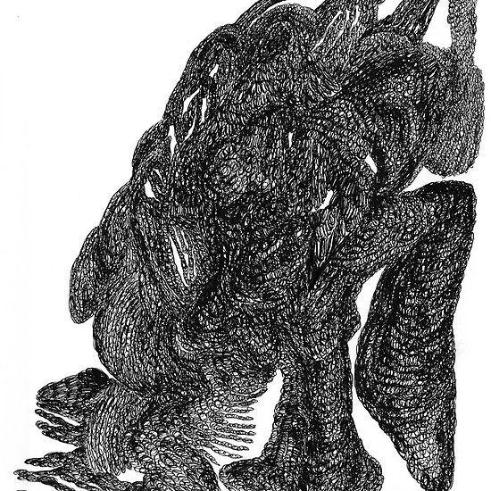dinosaurio creature BY DARIA BLAZEK