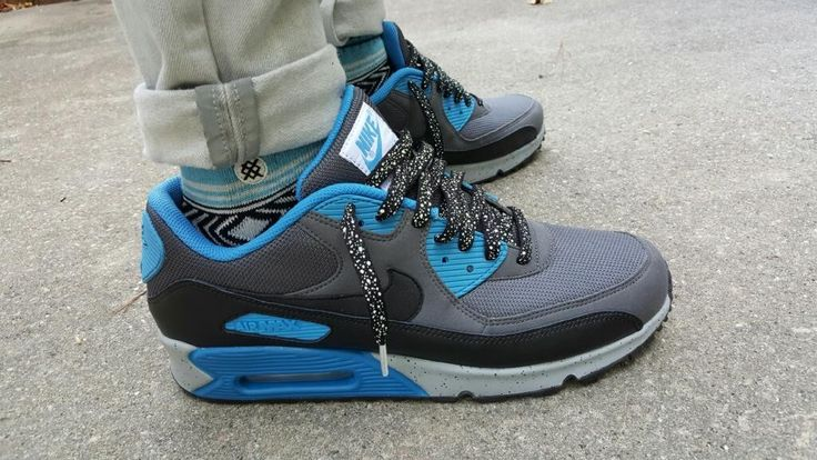 Laced Up Laces x Custom Air Max 90 ID's | Black Splatter Laces | Cop on www.laceduplaces.com