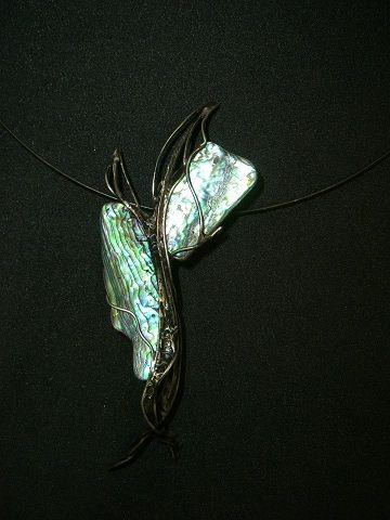 abstract dragonfly, paua