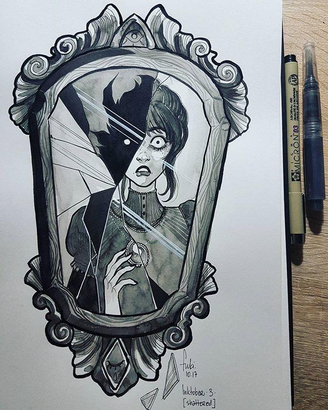 Broken mirror drawing