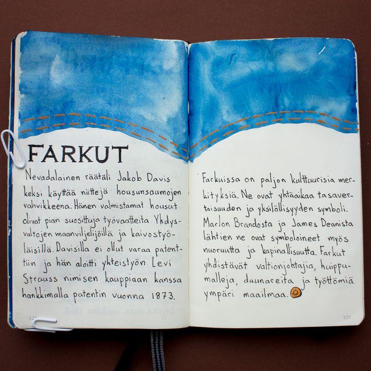 From sketchbook of Petri Fills #sketchbook #jeans #farkut
