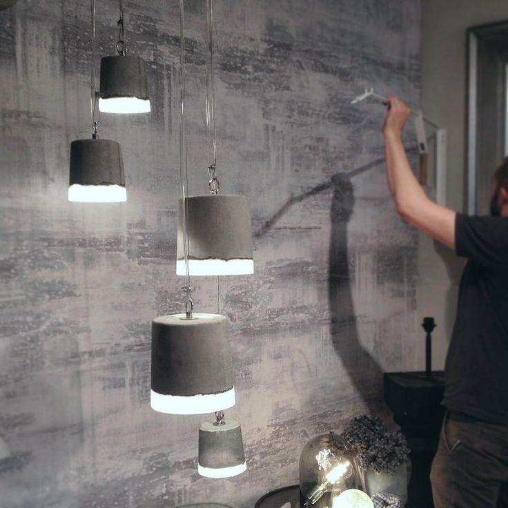 our concrete pendants#concrete #lighting #oliveandthefox