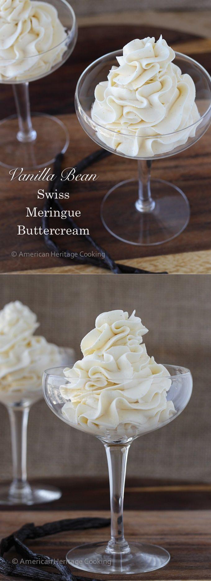 Vanilla Bean Swiss Meringue Buttercream Frosting - American Heritage Cooking