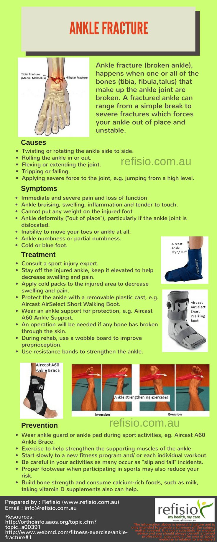 Ankle sprain physical therapy - Ankle Fracture Causes Symptoms Treatment Prevention