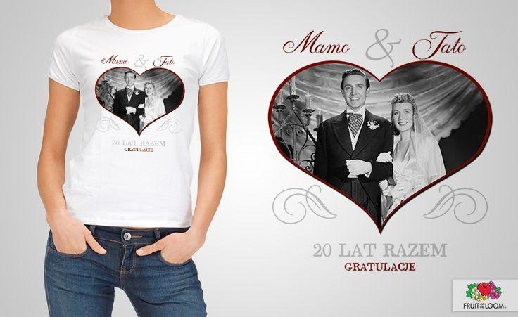 fotograficzne prezenty na rocznicę - koszulka personalizowana
