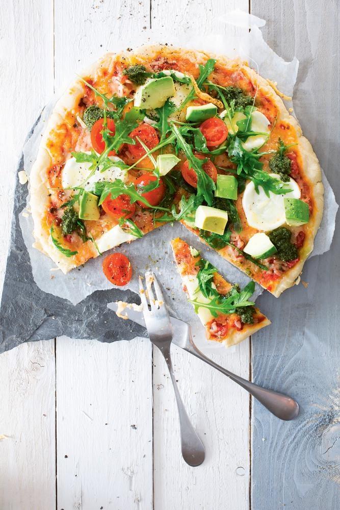 Mozzarella-rucolasalaattipizza, gluteeniton   K-ruoka #vappu