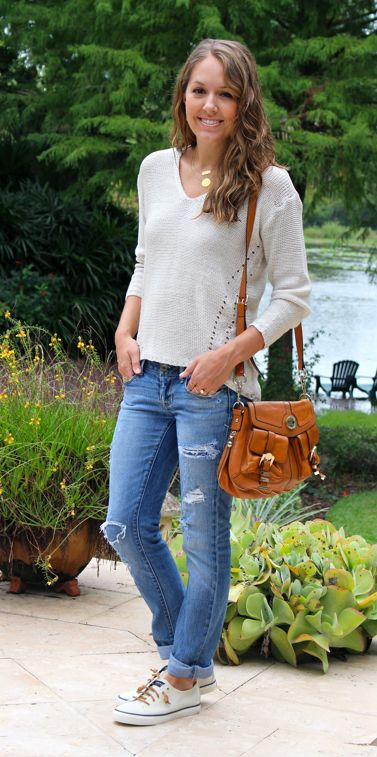 """I'm excited for fall weather and it's  finally chilly enough some nights to wear a light sweater. I just want to wrap up in a cozy knit, comfy jeans and  sneakers. My """"mood"""" is definitely affecting my purchasing decisions,  because I couldn't buy these Sperrys fast enough in Macy's sale last week.  They are so cushiony and I like how the spiraled cognac laces give them a  little extra flare over regular canvas sneakers. Are ..."""
