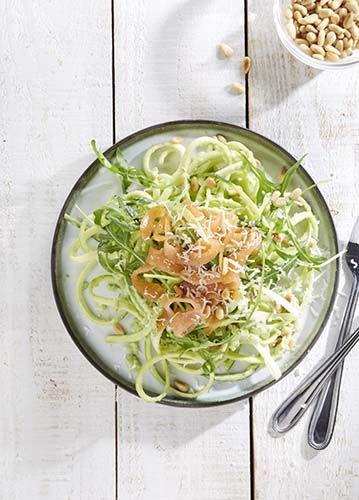 Spaghettis de courgettes au saumon | Colruyt