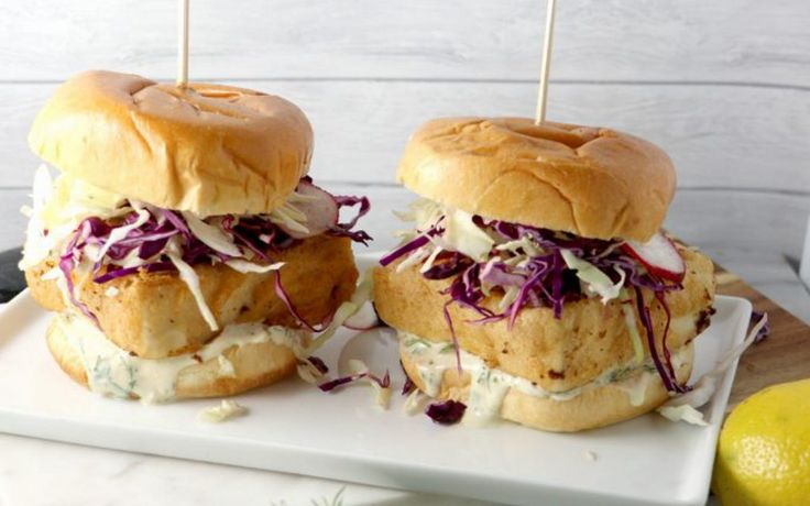 """<p>If you long for that faux fish sammie, you have to try this beer battered tofu """"fish"""" sandwich. </p>"""
