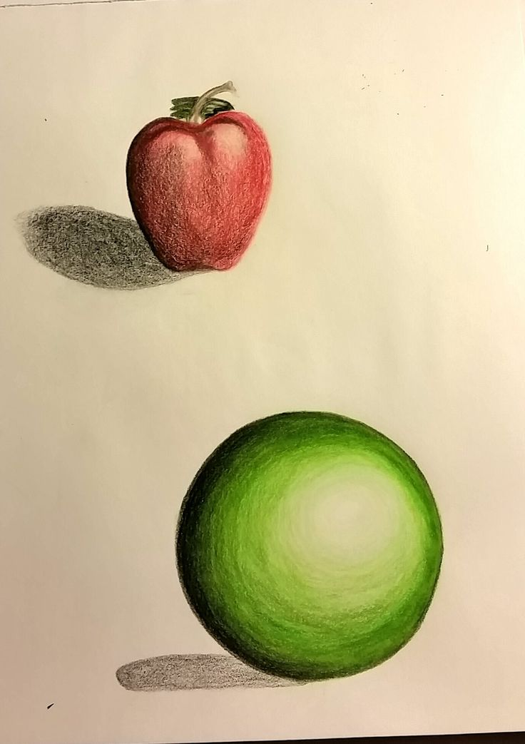 Apple & Sphere - prismacolor