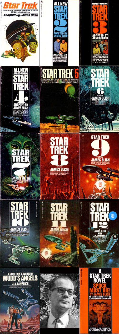 Star Trek TOS adaptations by James Blish plus an original ST novel by him.