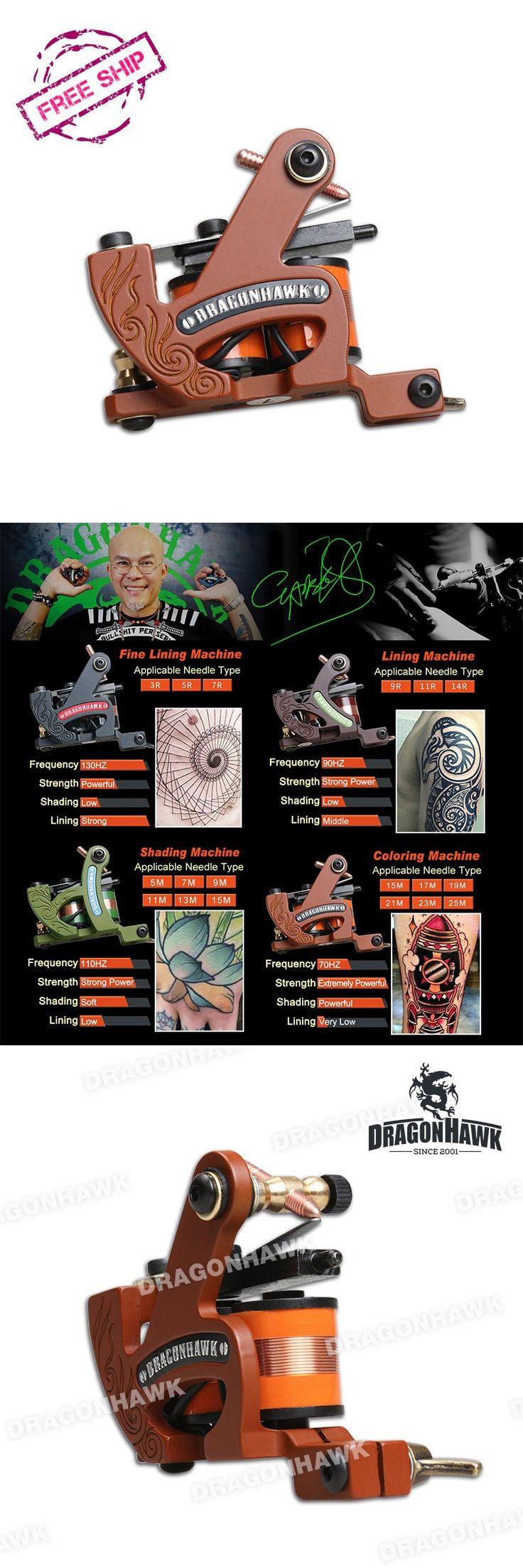 Coloring Tattoo Machine Professional 10 Wrap Coils Tattoo Gun Iron Frame Tattoo Supplies