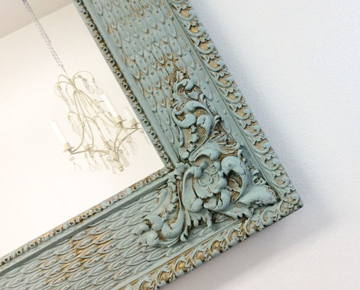 ANTIQUE FRAMED MIRROR Teal Green Framed Mirror Shabby Chic Nursery Antique Wall Mirror Framed Mirrors by RevivedVintage on Etsy https://www.etsy.com/listing/154609483/antique-framed-mirror-teal-green-framed