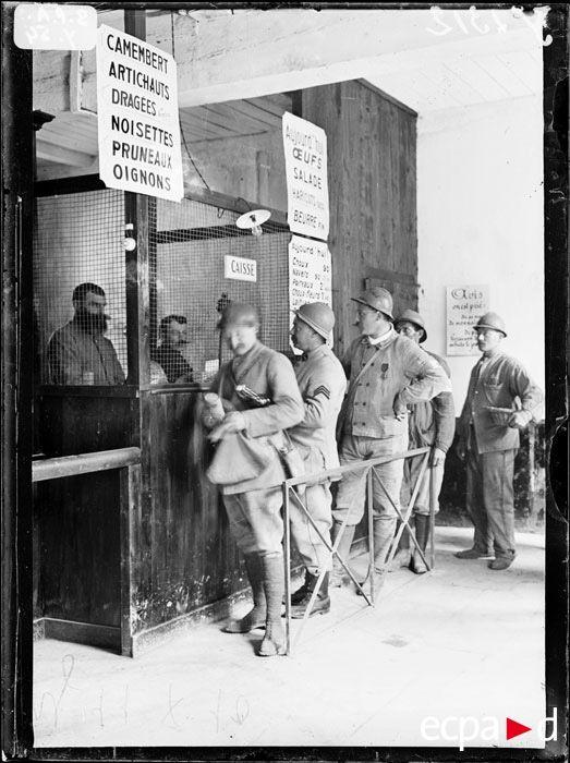 "WWI, 1917, Verdun; ""Caisse de la Cooperative"" -ECPAD"