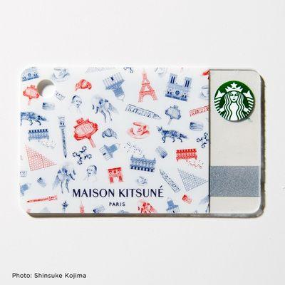 スタバカードを「メゾン キツネ(MAISON KITSUNÉ)」がデザイン GQ付録で登場   Fashionsnap.com