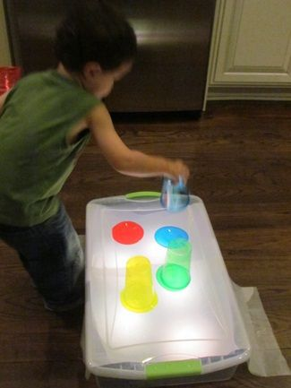 DIY Light Table for Preschool - Re-pinned by #PediaStaff.  Visit http://ht.ly/63sNt for all our pediatric therapy pins