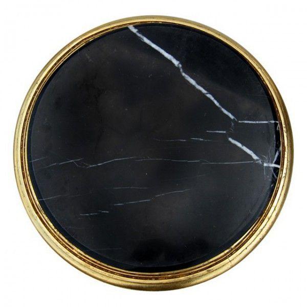 Rund Tisch Barock Antik Konsole Beistelltisch Gold Schwarze Marmorplatte Barock  Möbel Beistelltische