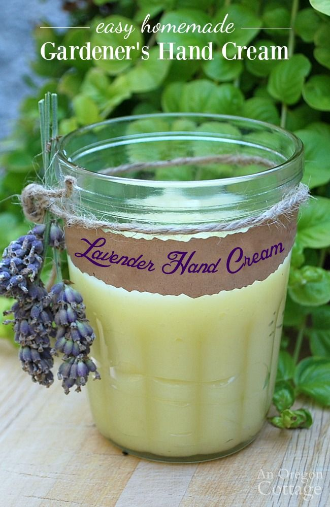 Anyone can whip up a batch of homemade hand cream with basic ingredients and just a few minutes of time for gardeners or anyone on your list with dry hands.