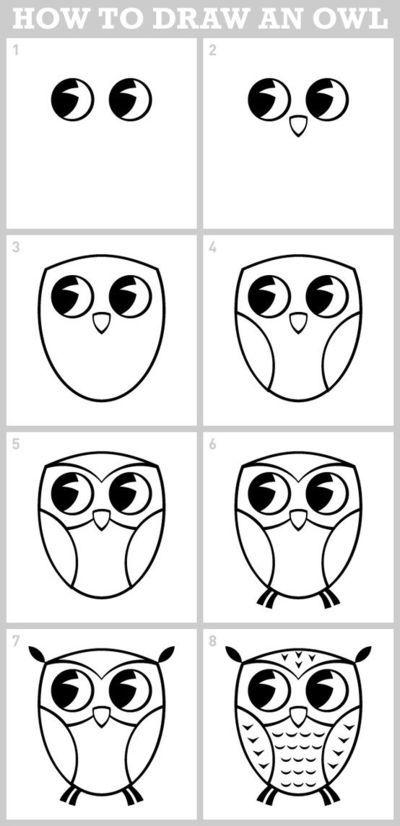 owl - how to draw / school planning - Juxtapost