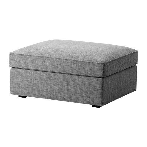 KIVIK Footstool with storage - Isunda gray - IKEA