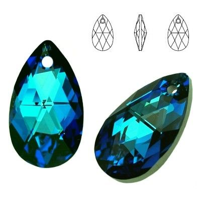 6106 Pear-shaped 28mm Bermuda Blue  Dimensions: height - 28,0mm Colour: Crystal Bermuda Blue 1 package = 1 piece
