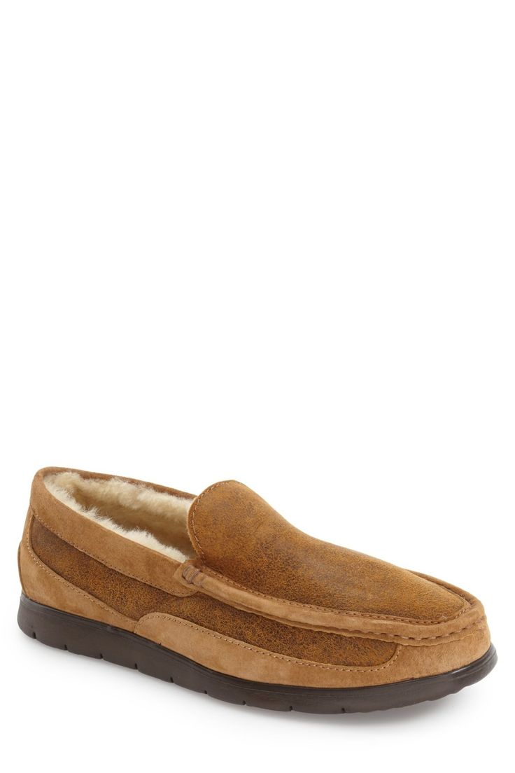 'Fascot Bomber' Genuine Shearling Slipper (Men)