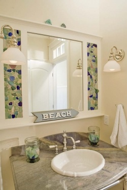 sea glass mirror surround home projects beach house bathroombeach