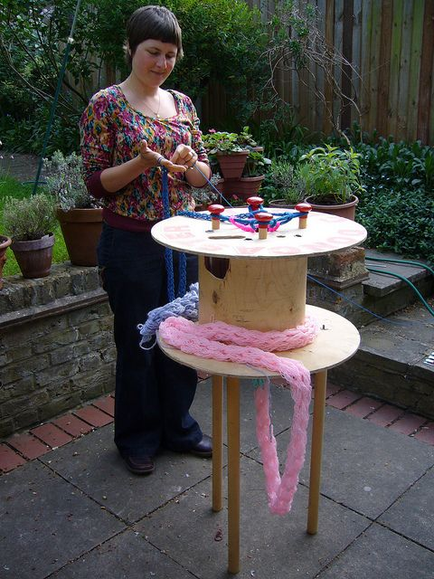 Giant spool knitter!