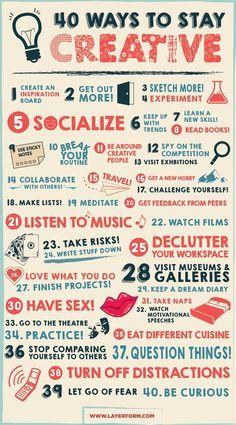 Momento #Infografica - 40 modi per aumentare la creatività