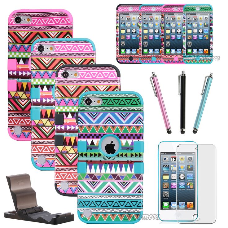 otter box cases for i pod 5 that has bows on it | ... High Impact Hard Case Cover for Apple iPod Touch 5 itouch 5th Gen